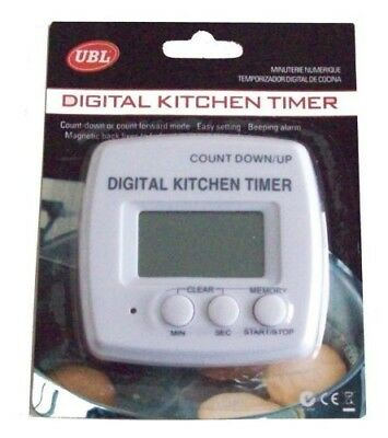 Digital Magnetic Magnet Kitchen Timer Count Up/down