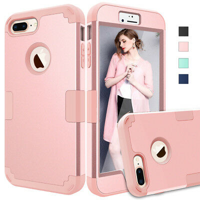 Hybrid Heavy Duty Shockproof Full-Body Protective Case iPhone 6s 7 8 Plus XS Max