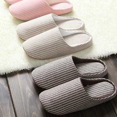 Japanese Silent Soft Slippers Floor Indoor Cotton Home Anti Slip Warm Cou Gift