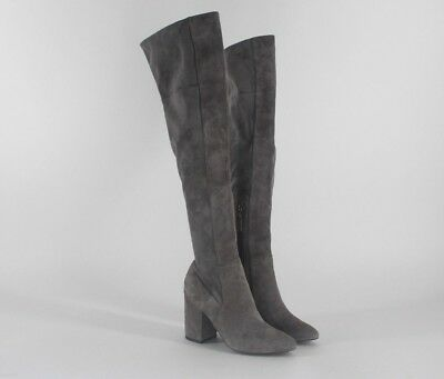 b2e9c83bf01 COLE HAAN DARLA Grey Suede Leather OVER THE KNEE BOOT WOMEN S SIZE 5 ...