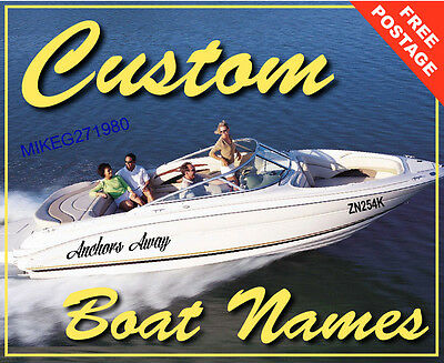 Custom Boat Yacht Names or wall decals 400mm wide Vinyl set of 2  SALE