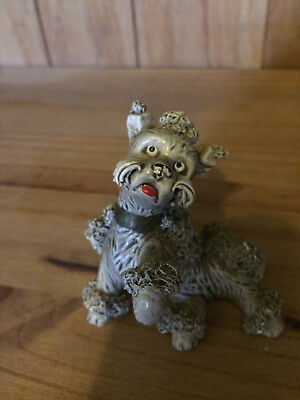 Gray Spaghetti Poodle Figurine - old - Won Best In Show Many Years Ago