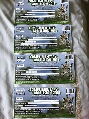 West Midlands Safari Park 2018  - Complimentary Admission - 3 Tickets