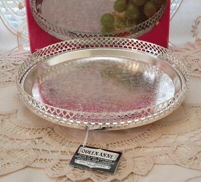 Vintage Queen Anne Silver Plated Gallery Tray - New never used