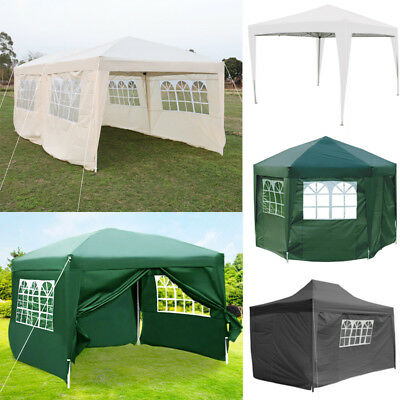 Heavy Duty Waterproof Pop Up Gazebo Marquee Outdoor Garden Party Tent Sidewalls
