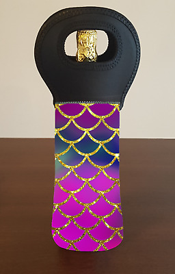 Mermaid Scales Wine Bottle Cooler Bag