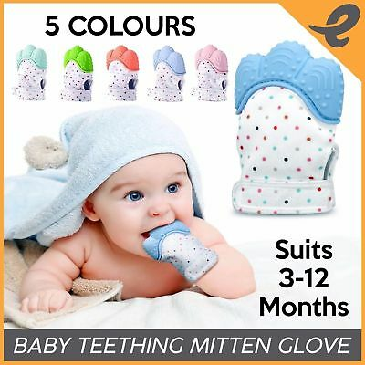 Silicone Baby Mitt Teething Mitten Teething Gloves Candy Wrapper Sound Teether U