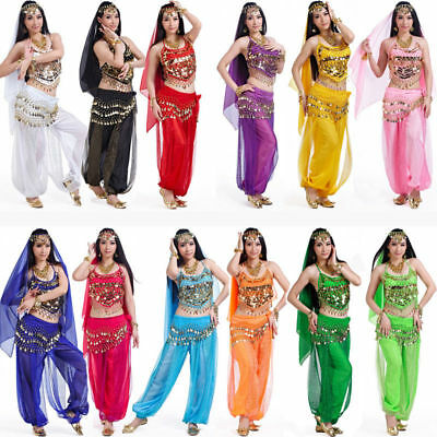 Belly Dance Costume Set Professional Dancer Bollywood Carnival Festival Outfit