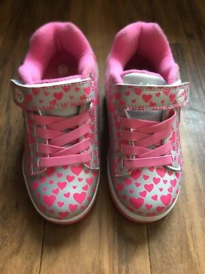 Girls Heelys pink and silver size 11 USED