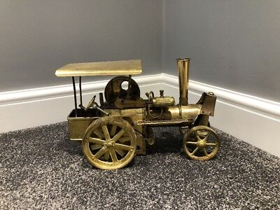 Vintage rare Wilesco Brass 'Old Smokey' steam engine