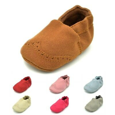 Toddler Boys Girls Baby Crib Shoes PU Leather Casual Moccasin Slip On Prewalker