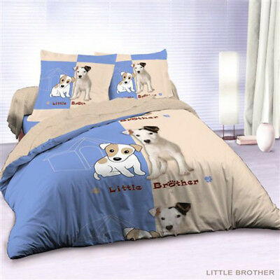 Housse de couette 220x240 + 2 taies LITTLE BROTHER - Blanc - 220x240