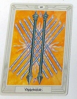 Oppression 10 single tarot card Crowley Large Thoth Tarot 1996 AGM Agmuller