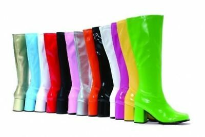Mens Womens Retro Go Go Gogo Boots Disco Boots 60s 70s Shoes Fancy Dress Costume