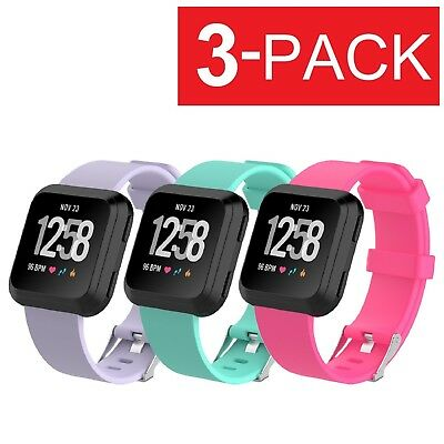 3-PACK Replacement Bracelet Watch Band Strap Fitness For Fitbit Versa
