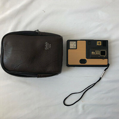 Vintage Kodak Disc 3100 Gold Color With Leather Case-Untested