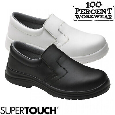 Supertouch Food X Slip On Lightweight Safety Shoes Steel Toe Cap Medical Hygiene
