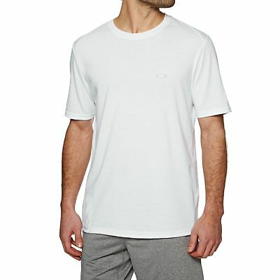 c27e7502 OAKLEY LINK SHORT Sleeve Mens T-shirt Sports Top - White All Sizes ...