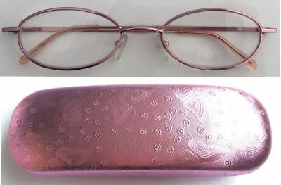 A12H Superb Quality Ladies Reading Glasses/Spring Hinges + Pink Butterfly Case