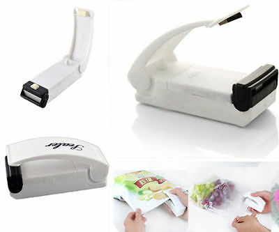 White Sealing Tool Heat Mini Handheld Plastic Bag Impluse Sealer Portable.  AU