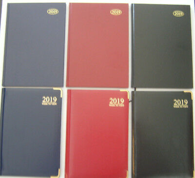 2019 Diary A4/A5/A6 Page A Day/Week to View With Metal Corners or Hard Back Type