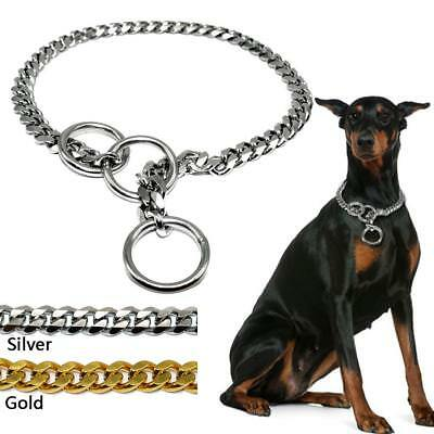Stainless Steel Chain Dog Collars Durable for Medium Large Dogs Training Pitbull
