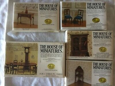 Beautiful House Of Miniatures Dollhouse Furniture Kits Lot Of 5