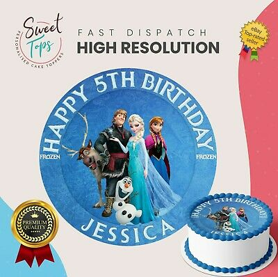 Miraculous Frozen Characters Edible Round Birthday Cake Topper Decoration Funny Birthday Cards Online Hetedamsfinfo