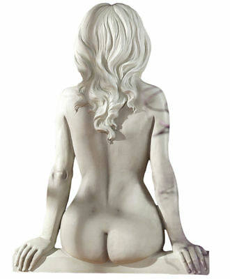 Naked Nude Girl Female Resting Wall Sculpture