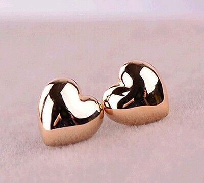 10 x Pairs Of Gold Heart Earrings Wholesale Joblot Car Boot Party Jewellery B