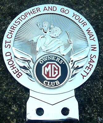 Mg Owners Club St Christopher Car  Badge