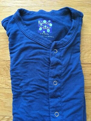 Kickee Pants Footed Solid Blue Pajamas 12-18 Months