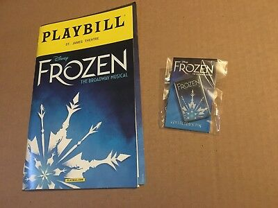 FROZEN Broadway Musical EXCLUSIVE Disney Collector's Pin PLAYBILL