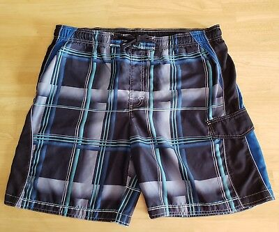 2885e8ff24 SONOMA MENS CARGO Swim Trunks Blue Plaid Board Shorts size XL ...