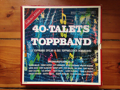 40-Talets Toppband Box Set - Reader's Digest (11xLPs + Buch) Jazz/Swing