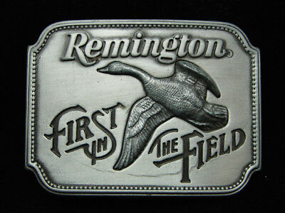 Oc21136 *nos* Vintage 1980 **remington First In The Field** Gun & Hunting Buckle