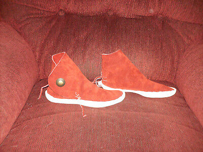 KAIBAB ? STYLE  NAVAJO 1 BUTTON  THICK SOLE MOCCASINS lot 2  smaller