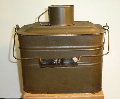 Stacking Two-Tier Rectangle Coal Miners Railroad Lunch Pail Dinner Bucket 4 Pcs