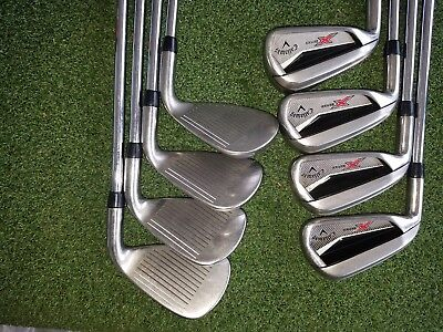 Lh Callaway X Series N415 Irons 4 Aw Uniflex Steel Very Nice