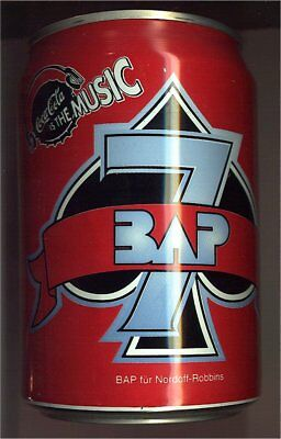 1 Coca Cola IS THE MUSIC Dose  Can 0,33l  leer 1995 Deutschland, BAP
