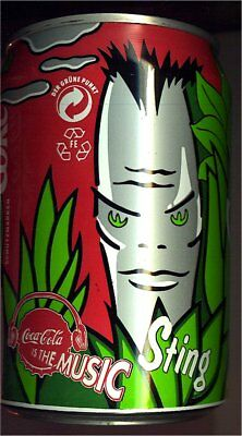 1 Coca Cola IS THE MUSIC Dose  Can 0,33l  leer 1995 Deutschland, Sting
