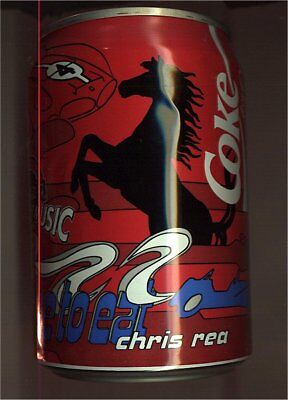 1 Coca Cola IS THE MUSIC Dose 0,33l  leer 1995 Deutschland,CHRIS REA free to eat