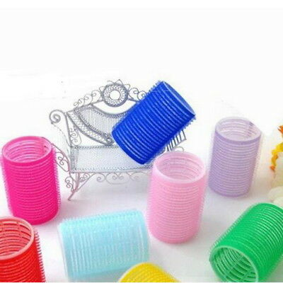 New 6Pcs/Set Big Self Grip Hair Rollers Cling Any Size DIY Hair Curlers JR