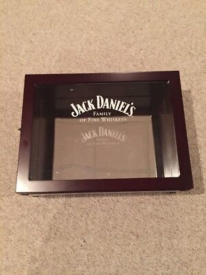 Jack Daniels Family Of Fine Whiskeys Wood Display Case With 2 Bottles