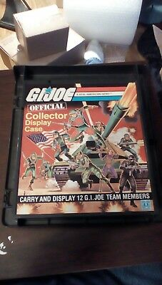 vintage lot of gi joe 1982 carrying case with action figures.