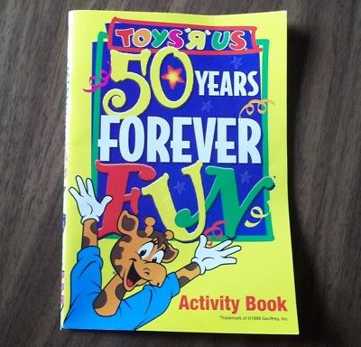 Toys R Us 50 Years Forever Fun Kids Activity Book 1998 Unused
