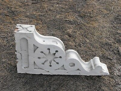 Vintage Wooden Corbels Crafted in 1890's White, 4 3/4 inches x15 x 30