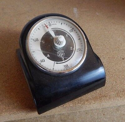 Vintage Smiths Electric timer black Bakelite untested needs wires