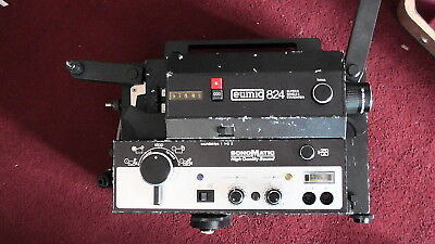EUMIG 824 STD 8mm and SUPER 8mm SOUND SONOMATIC CINE PROJECTOR GWO