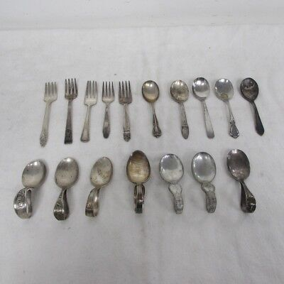 Lot of Mixed Silver Plated Antique & Vintage Baby Spoons/Forks